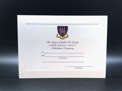 Initiation Invitations Delta Phi Epsilon