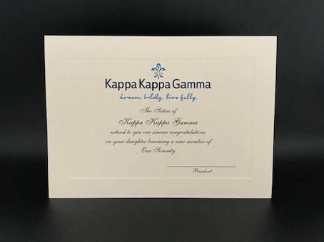 Official Parent Congratulations New Member Kappa Kappa Gamma