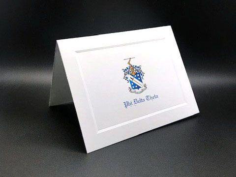 Full Color Crest Notecards Phi Delta Theta