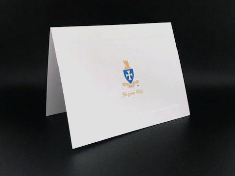 Engraved Bid Day Cards Sigma Chi