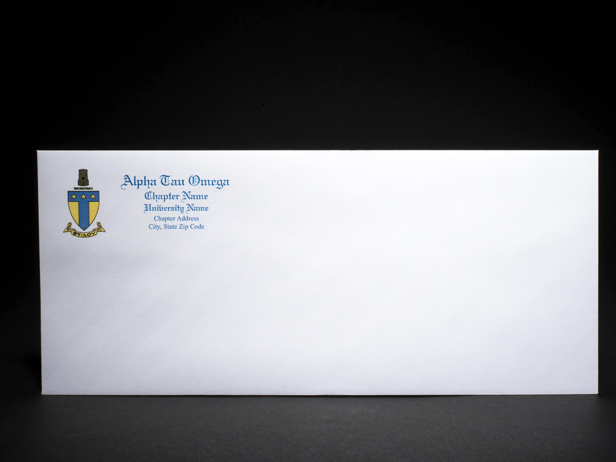 Business Size Envelopes Alpha Tau Omega