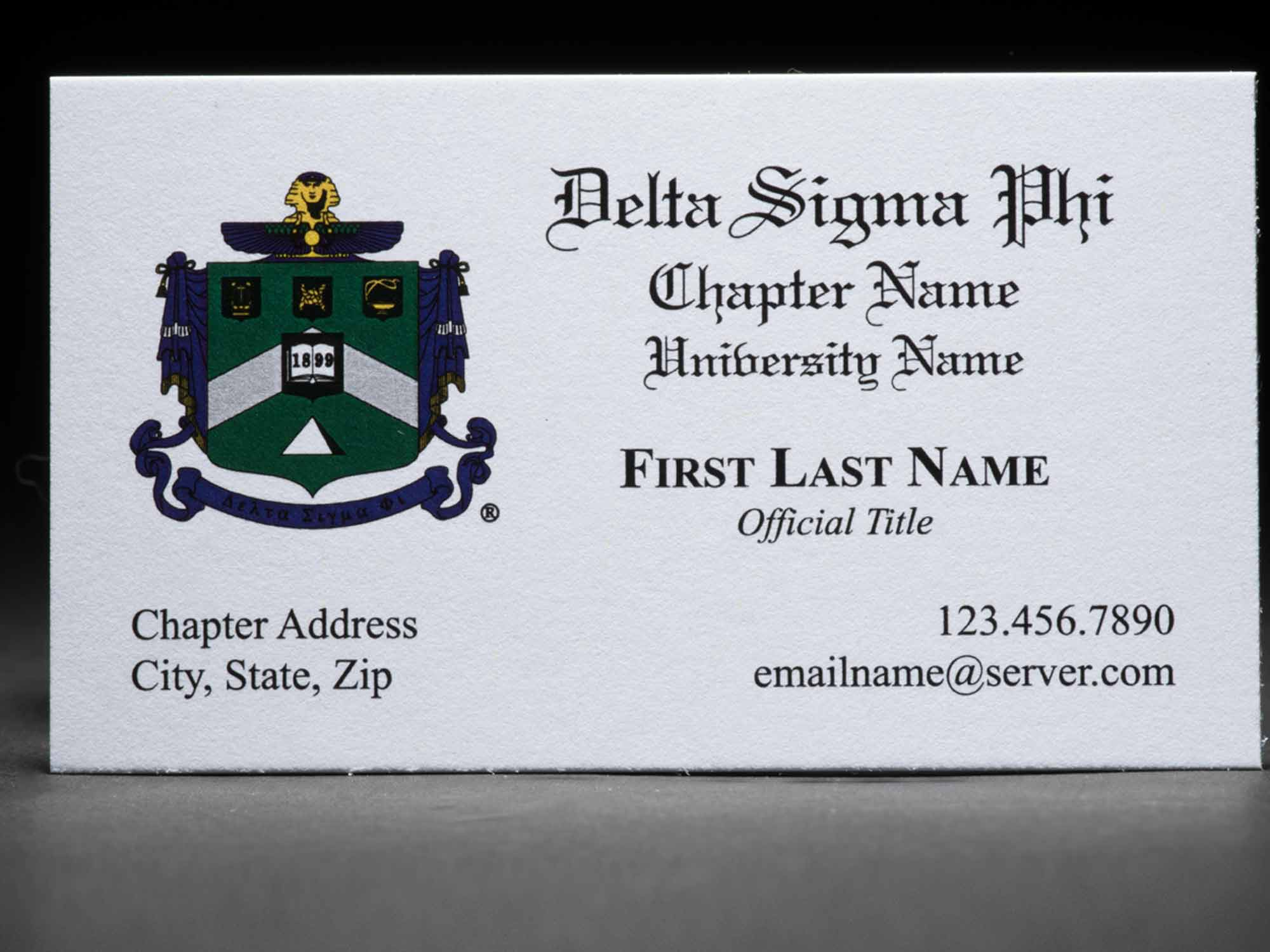 Business Cards Delta Sigma Phi