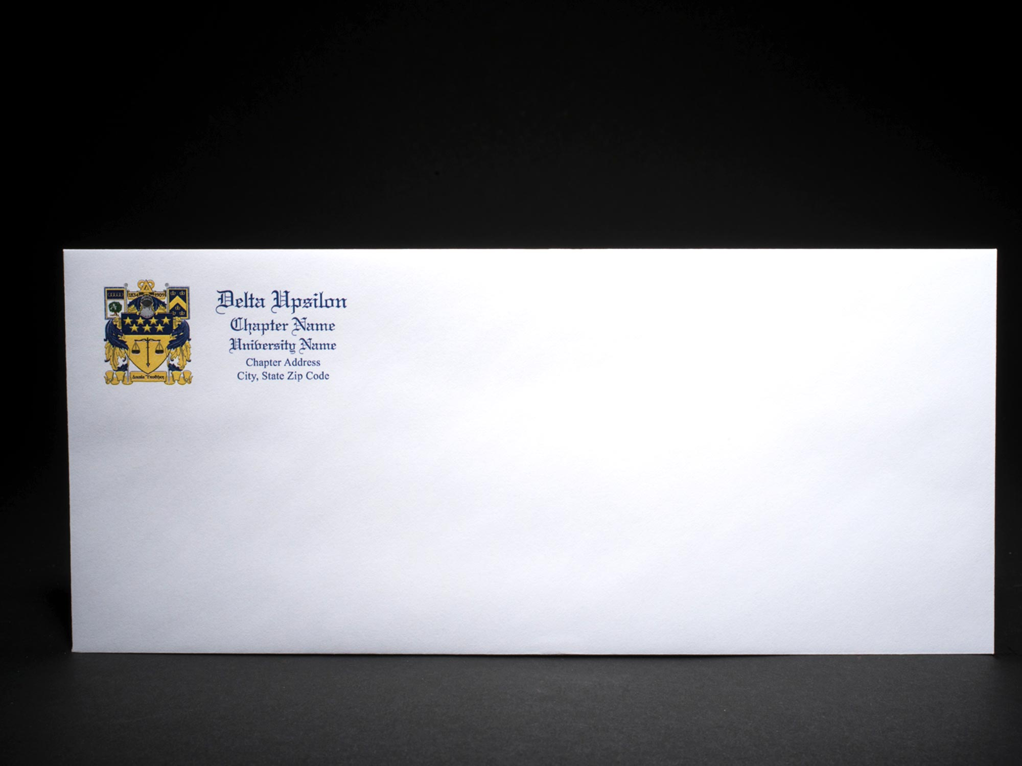 Business Size Envelopes Delta Upsilon