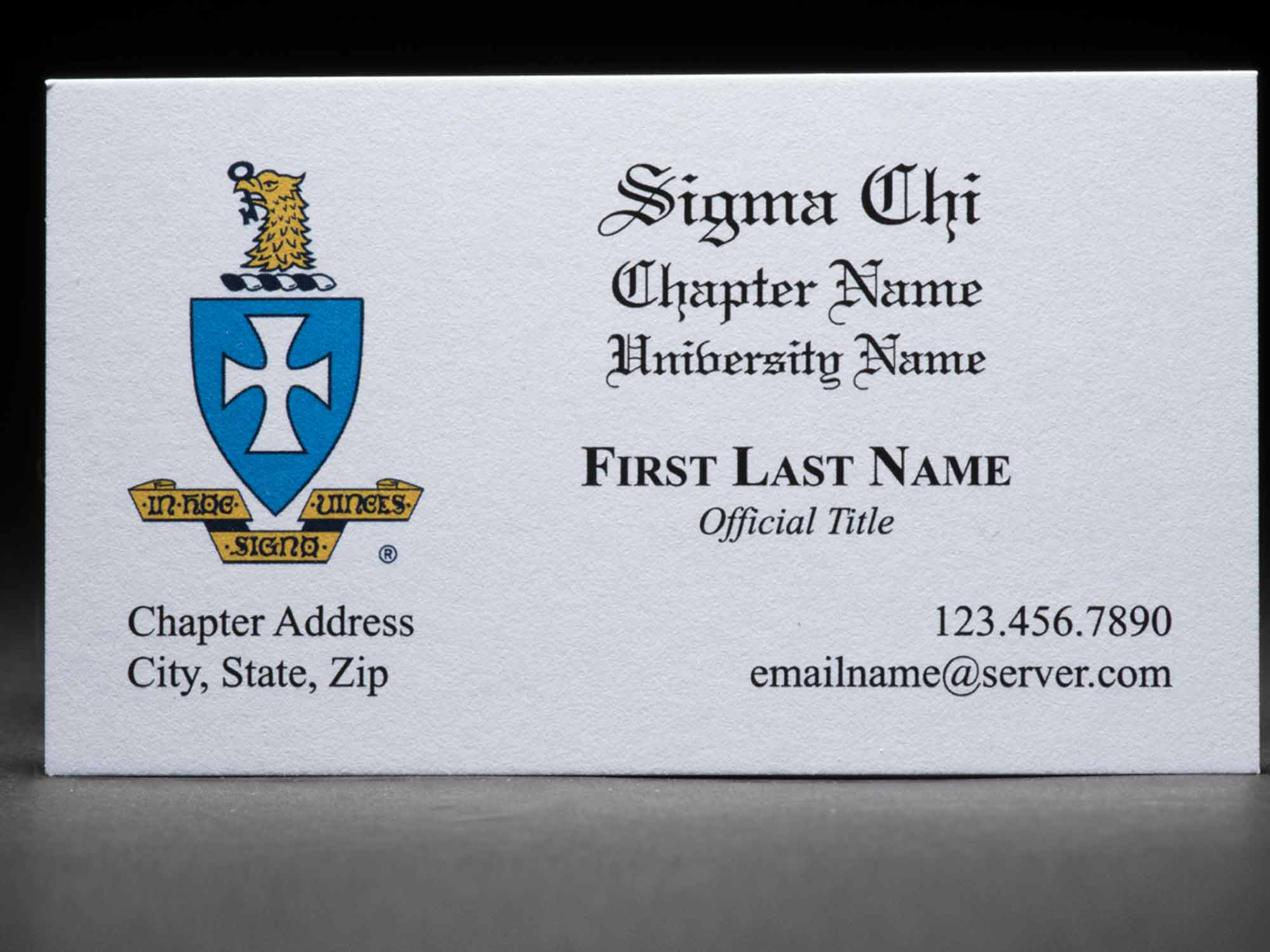 Business Cards Sigma Chi