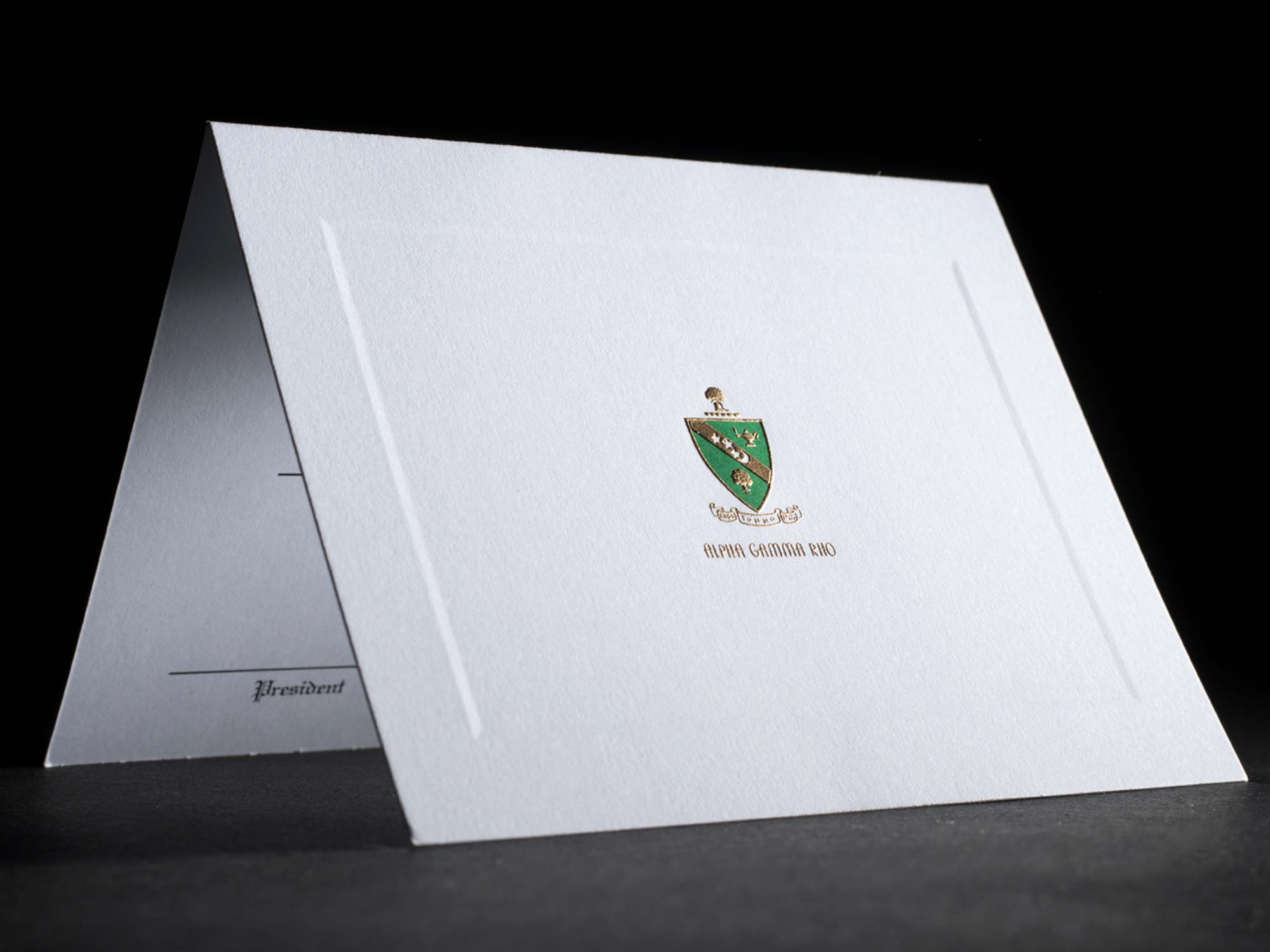 Engraved Bid Day Cards Alpha Gamma Rho