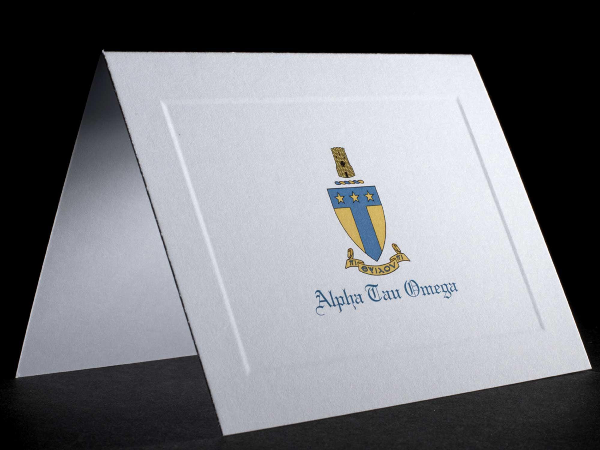 Full Color Crest Notecards Alpha Tau Omega