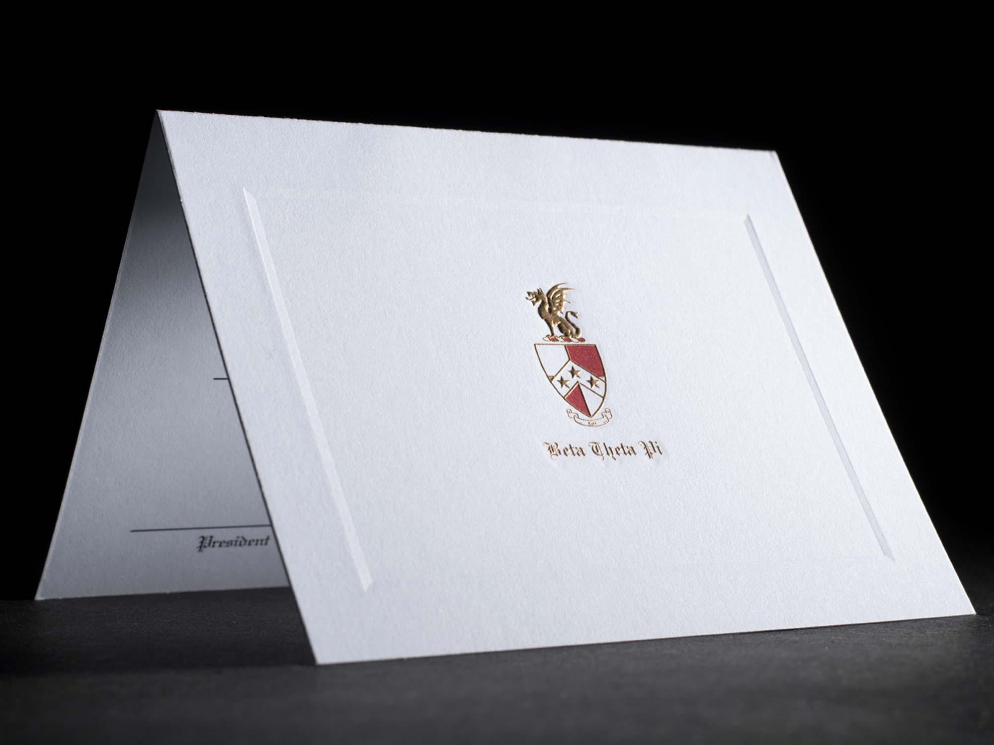 Engraved Bid Day Cards Beta Theta Pi