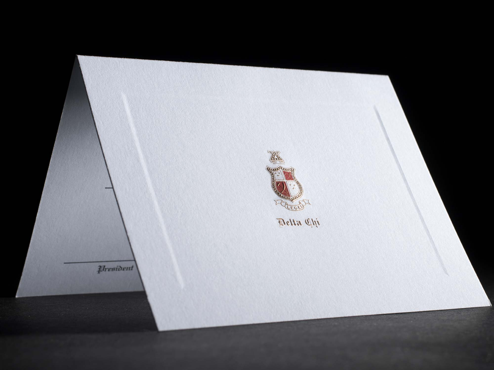 Engraved Bid Day Cards Delta Chi