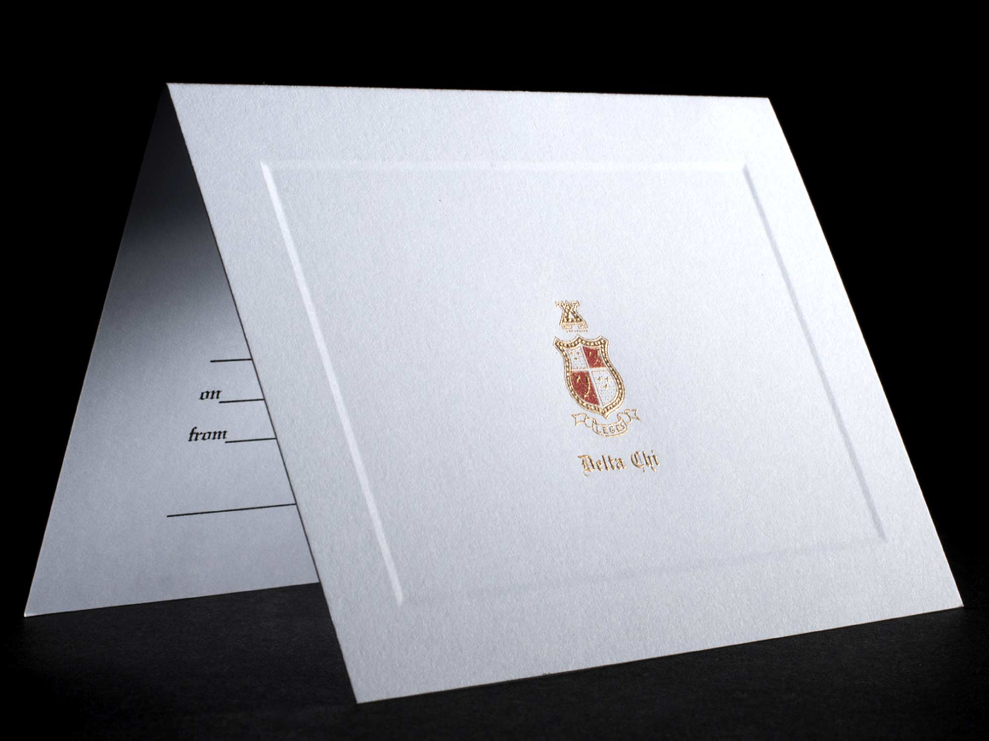 Engraved Invitations Delta Chi