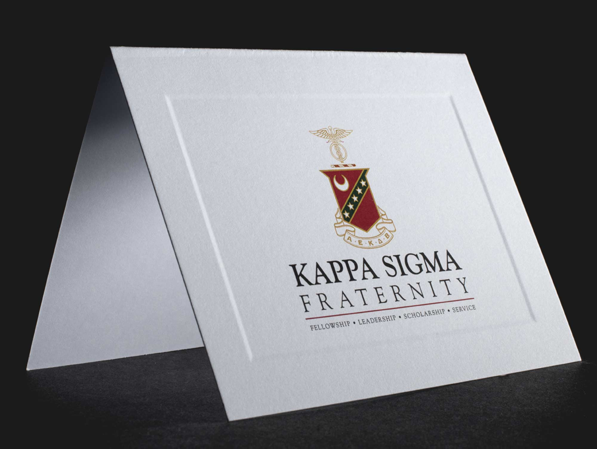 Official Notecards With New Graphic Standard Kappa Sigma