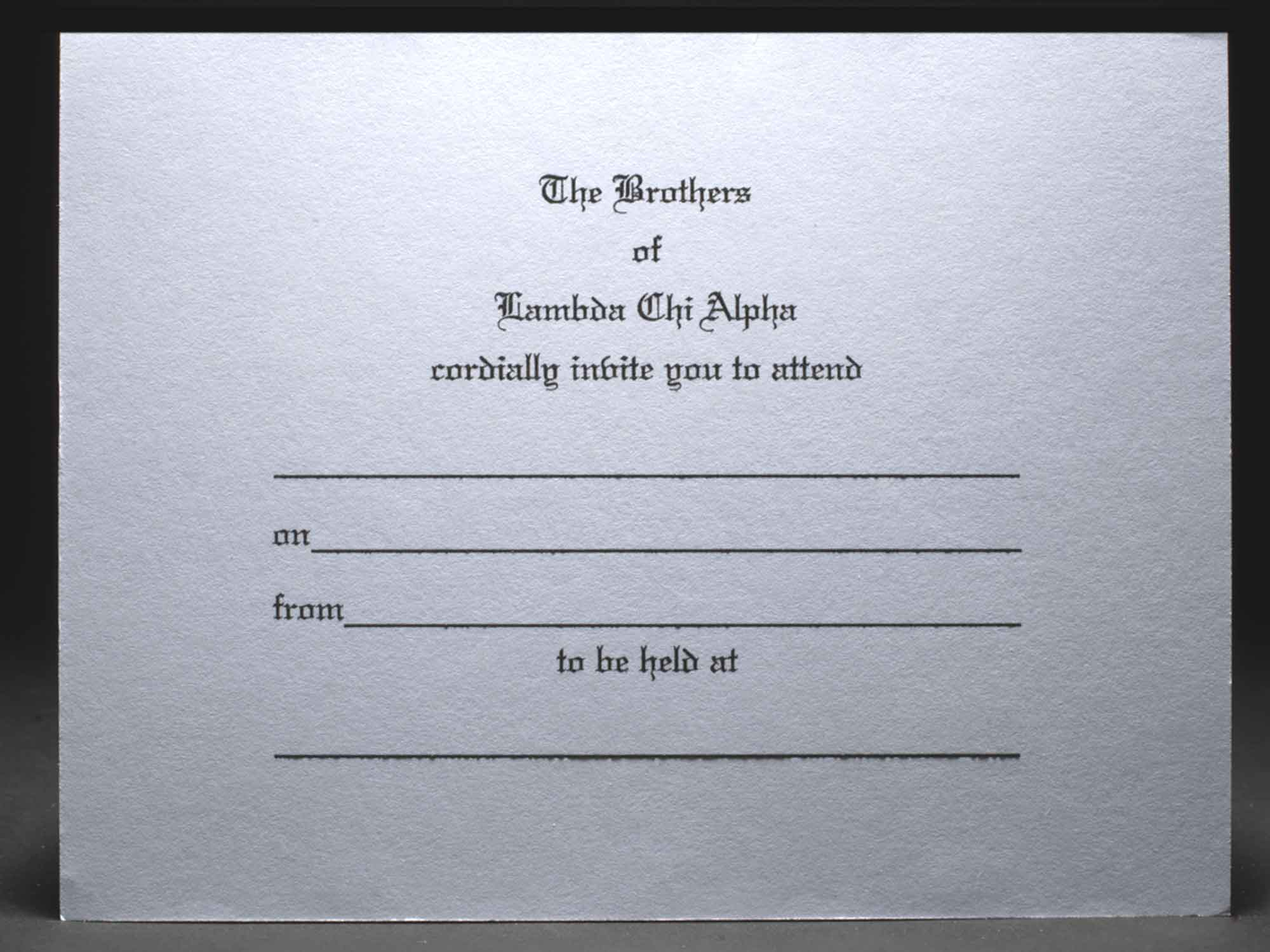 Formal Invitations Lambda Chi Alpha 2