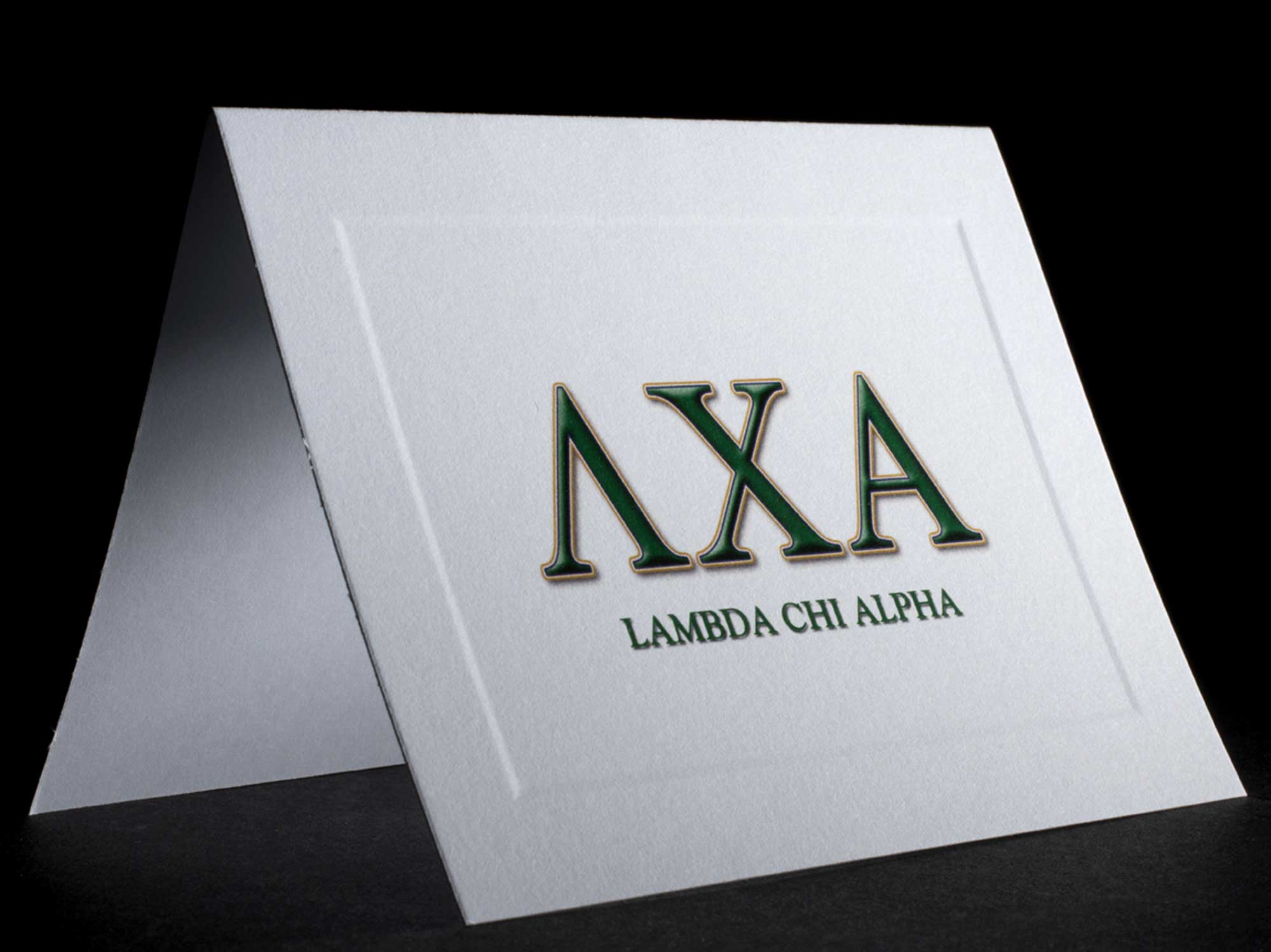 Full Color Greek Letter Notecards Lambda Chi Alpha