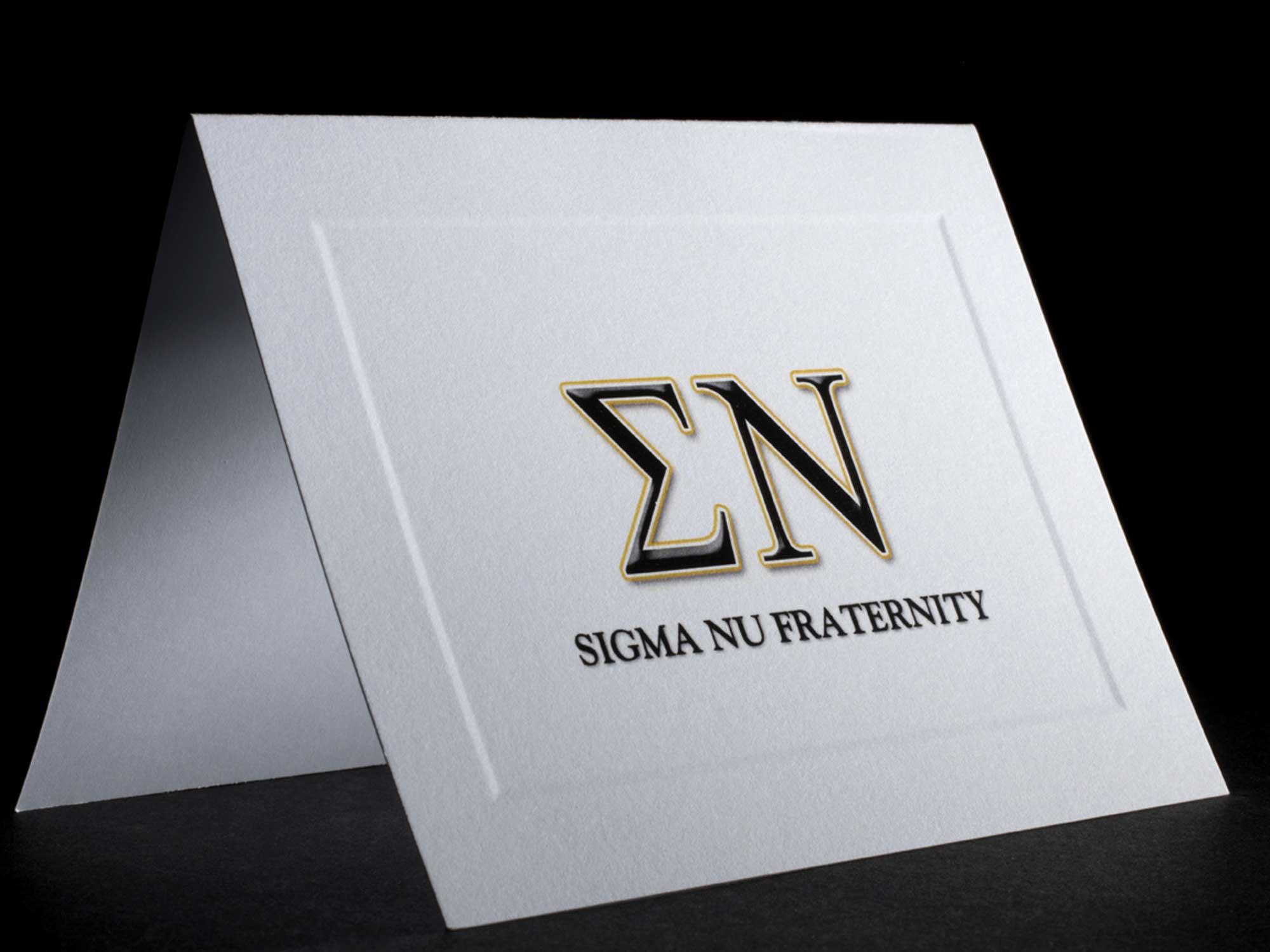 Full Color Greek Letter Notecards Sigma Nu
