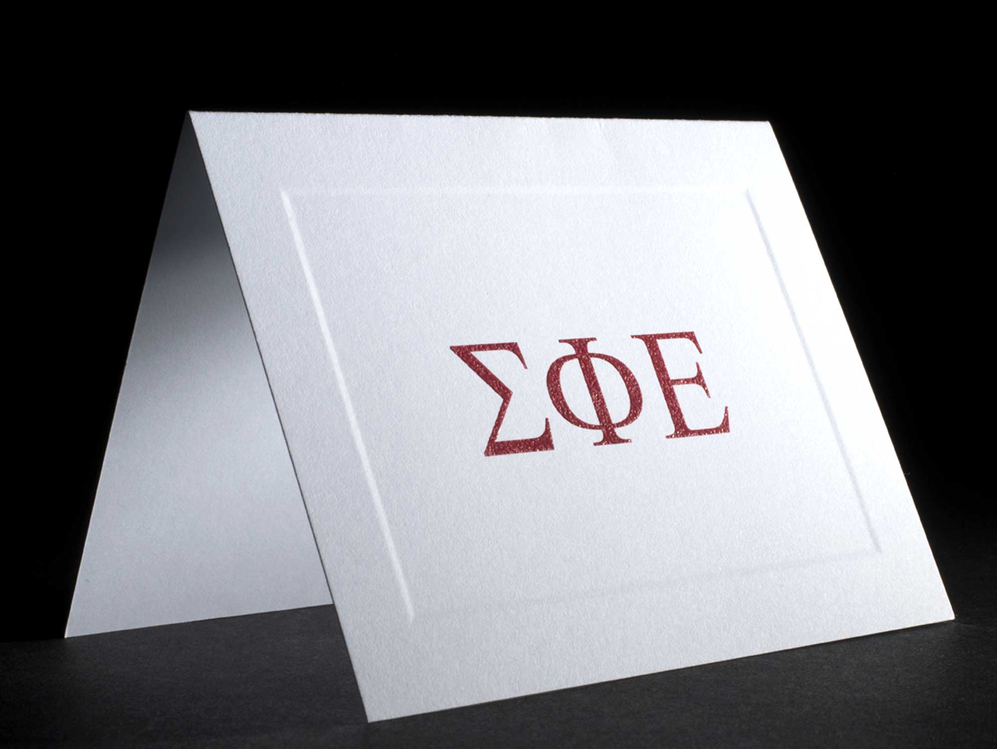 Raised Greek Letter Notecards Sigma Phi Epsilon