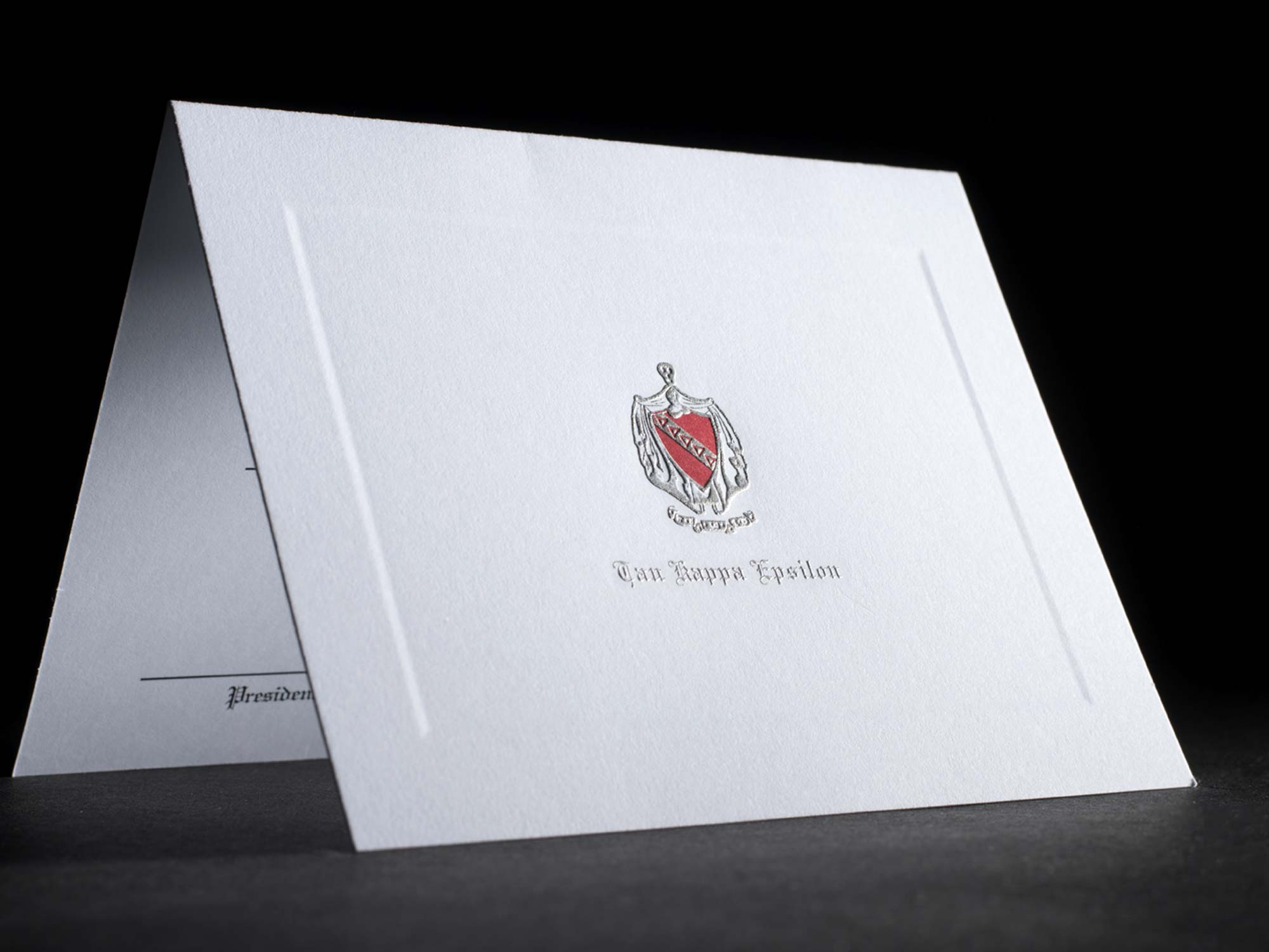 Engraved Bid Day Cards Tau Kappa Epsilon