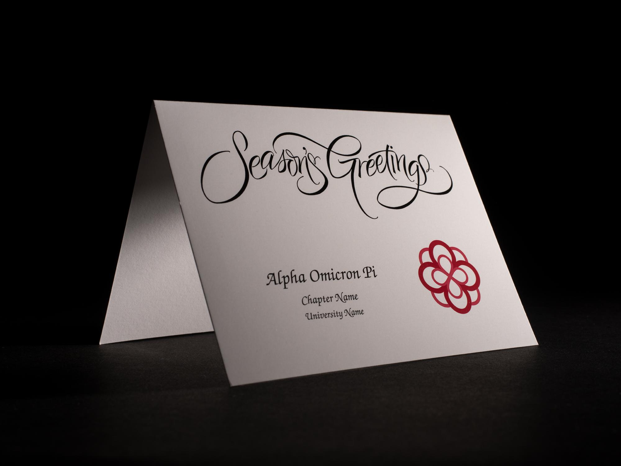 Seasons Greetings Cards Alpha Omicron Pi