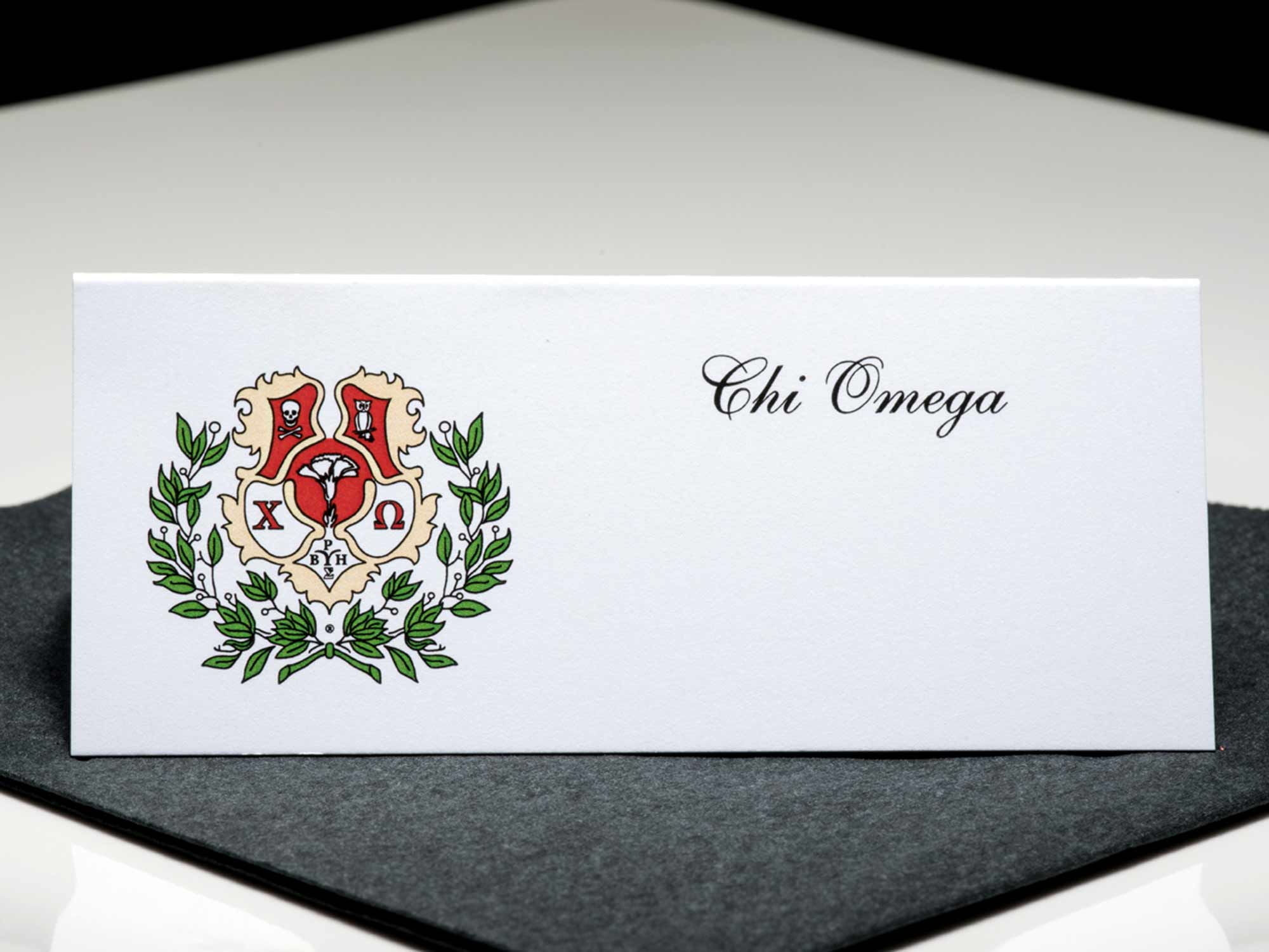 Place Cards Chi Omega