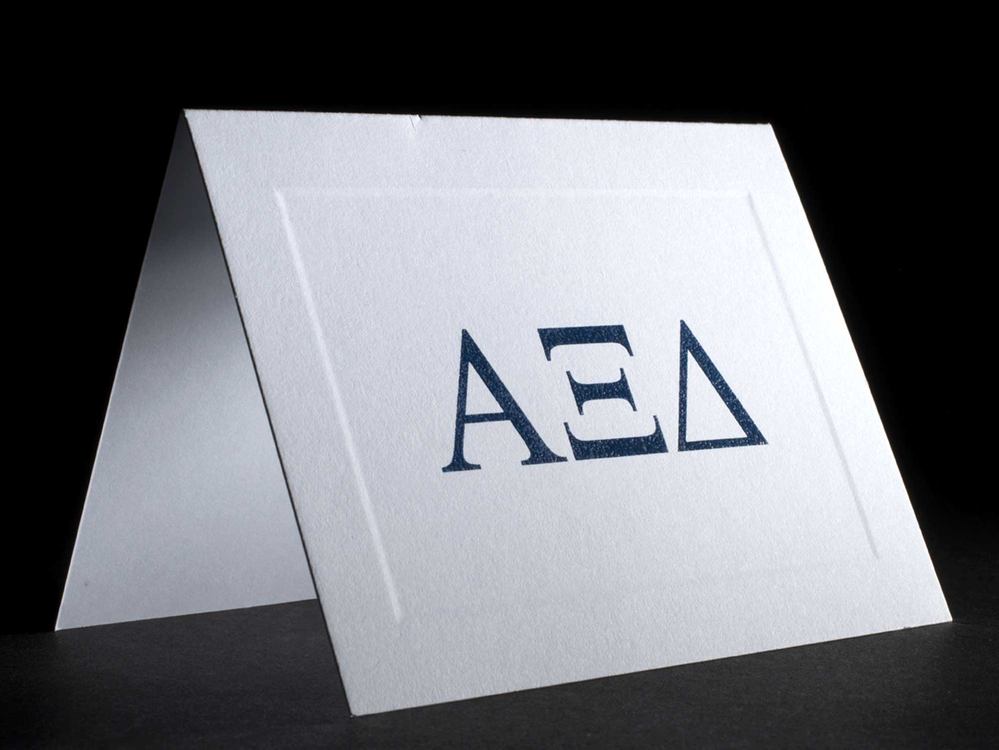 Greek Letter Raised Notecards Alpha Xi Delta