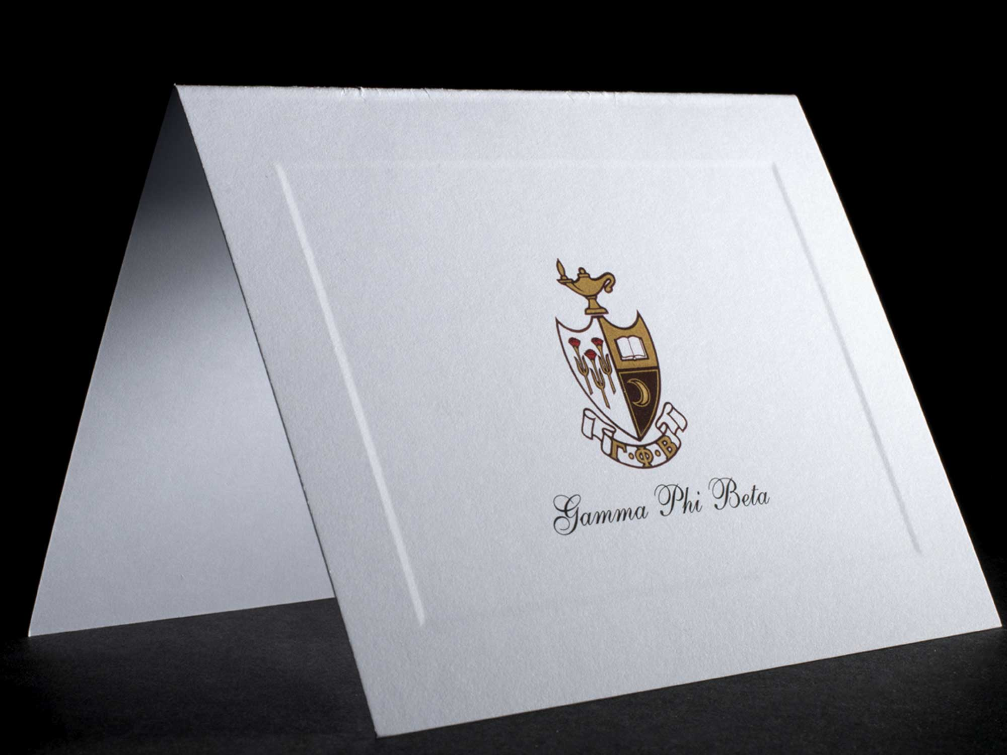 Full Color Crest Notecards Gamma Phi Beta