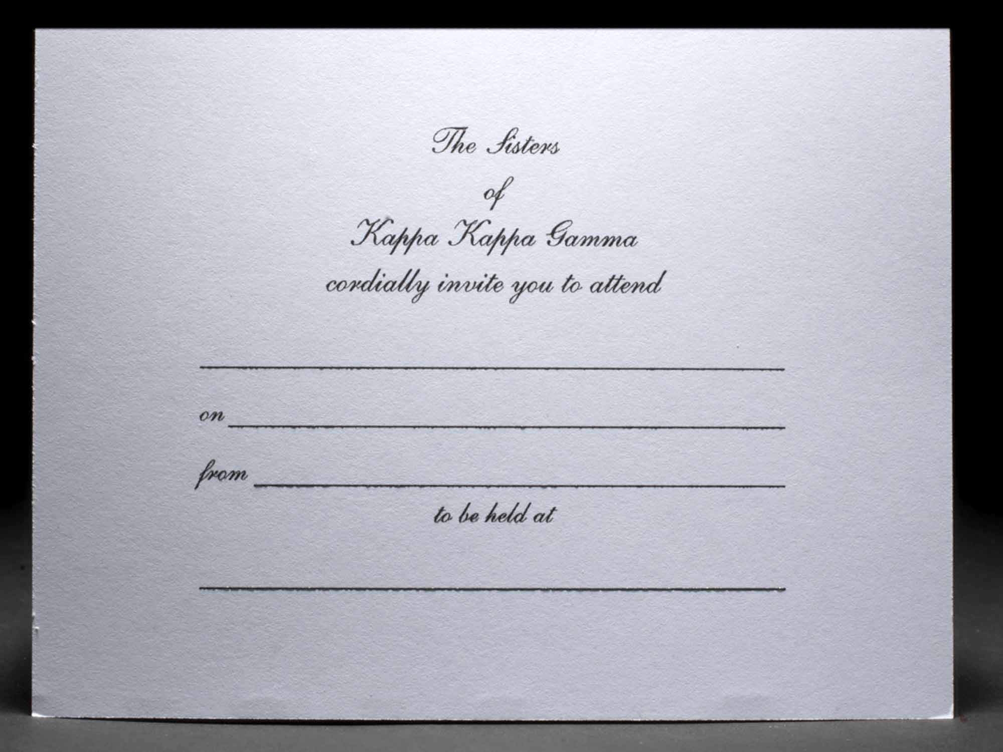 Formal Invitations Kappa Kappa Gamma 2