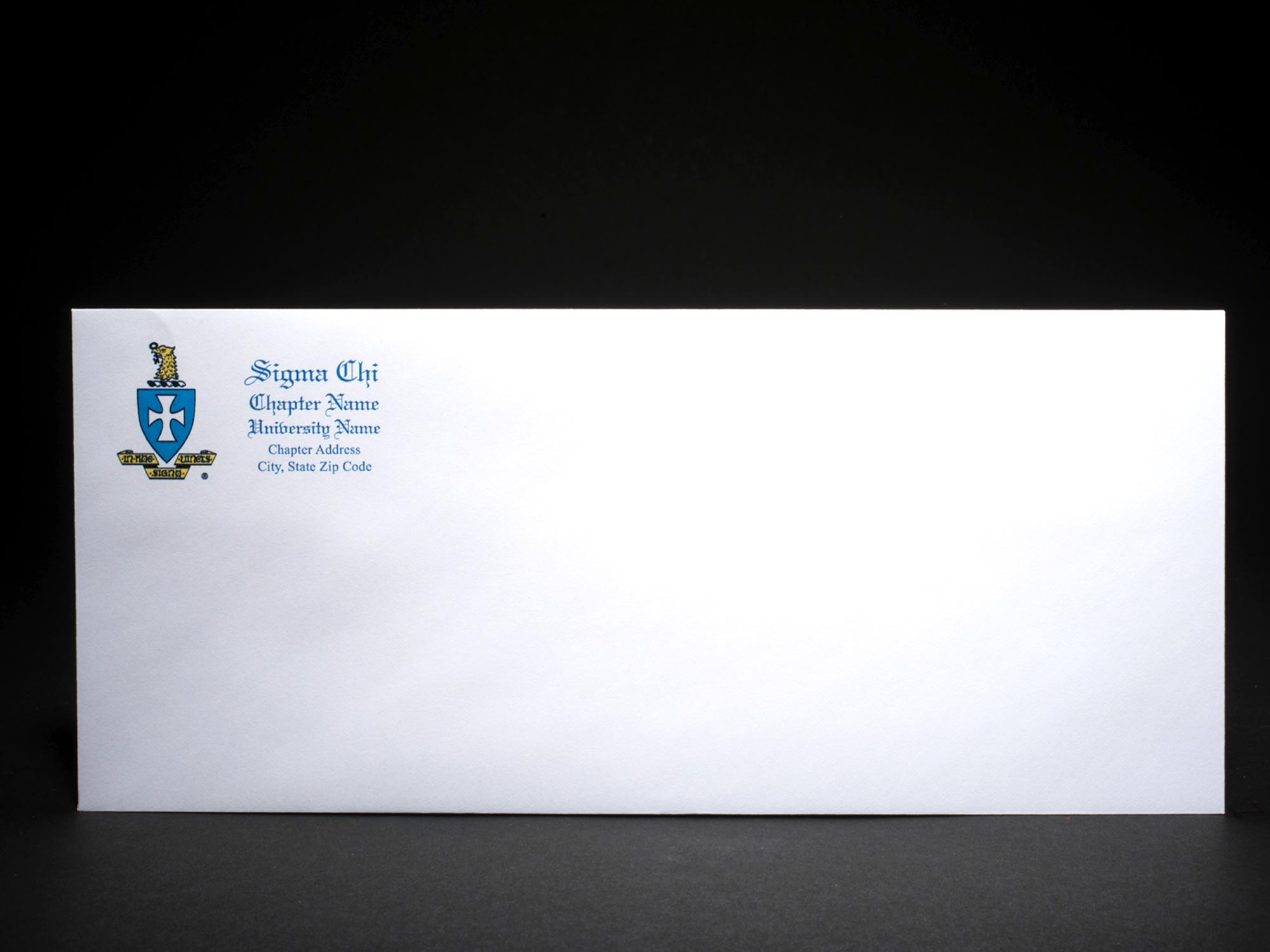 Business Size Envelopes Sigma Chi