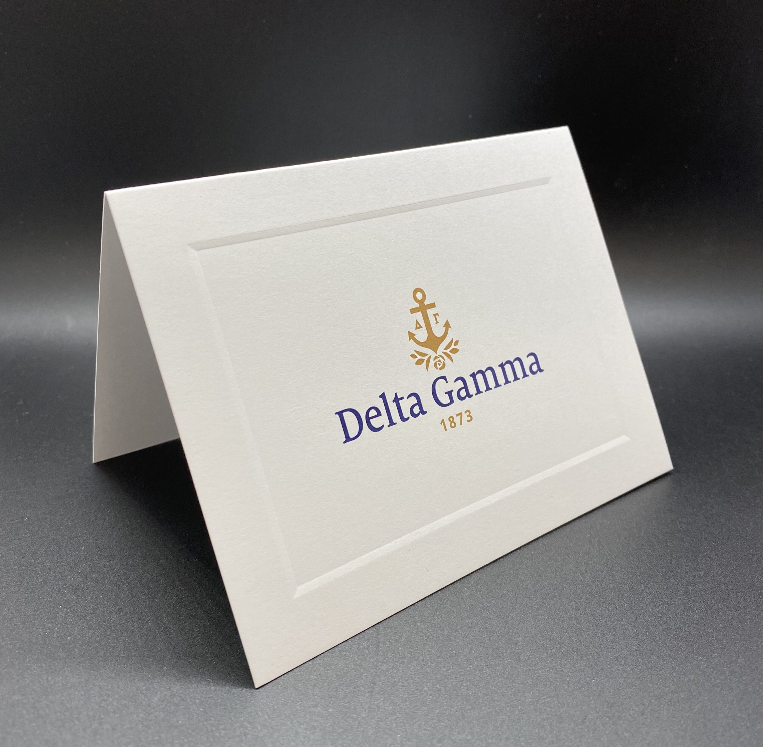 Official Notecards With New Graphic Standard Delta Gamma